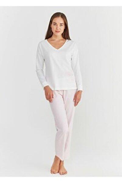 Kadın Pembe Baskılı Lily Pijama Takımı
