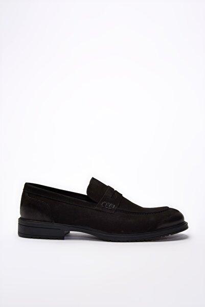 Hotiç Hakiki Deri Siyah Erkek Modern Loafer 02AYH195740A100