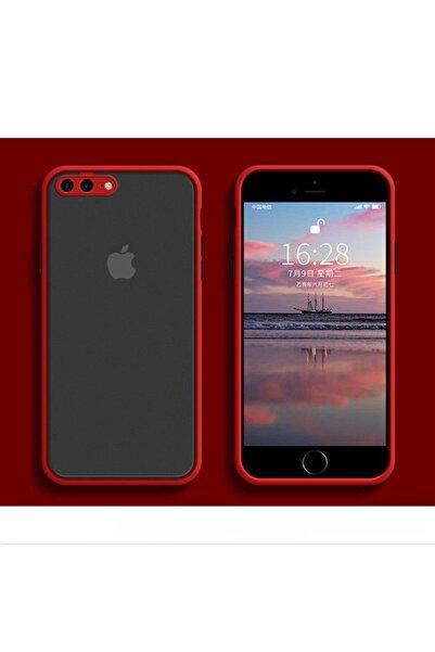 Kılıfsiparis Iphone 7 Plus / 8 Plus Kamera Korumalı Silikon Kırmızı Kılıf