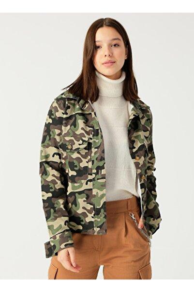 Quzu Kadın Haki Ceket
