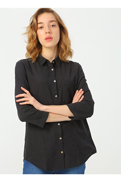 Fashion Friends Kadın Siyah Gömlek
