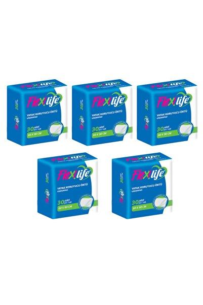 Flexi Life Hasta Altı Bezi Yatak Koruyucu 60x90 cm 30lu 5 Paket