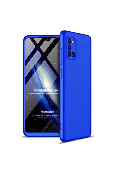 Microsonic Microsonic Galaxy A31 Kılıf Double Dip 360 Protective Mavi
