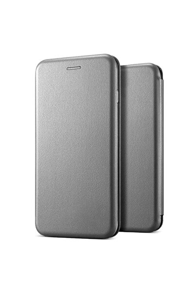 Microsonic Microsonic Galaxy A71 Kılıf Ultra Slim Leather Design Flip Cover Gümüş