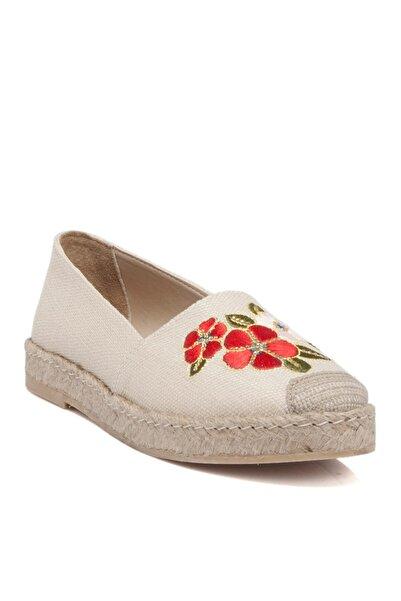 Tergan Kadın Bej Keten Tekstil Ayakkabı 64213m04