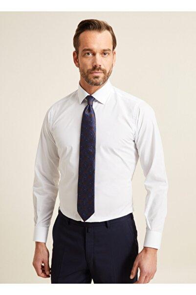 Bisse Erkek Beyaz Regular Fit Kolay Ütülenebilir Düz Klasik Gömlek