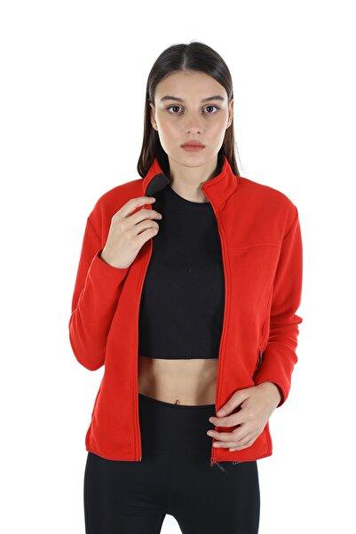 Diandor Kadın Kırmızı Polar Hırka 7002 21w42007002