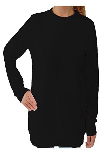 Tshigo Kadın  Siyah Basic Kapşonsuz S-shirt