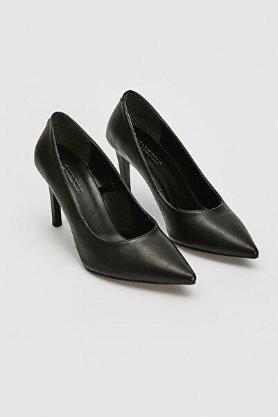 LC Waikiki Kadın Siyah Topuklu Ayakkabı 0WDG98Z8