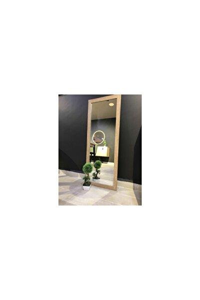 Vivense Mone Ayna 40x104 Natural Ahşap Görünümlü Salon Ofis Boy Aynası