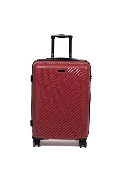 Tergan Unisex Kırmızı Orta Boy Valiz 45524d64