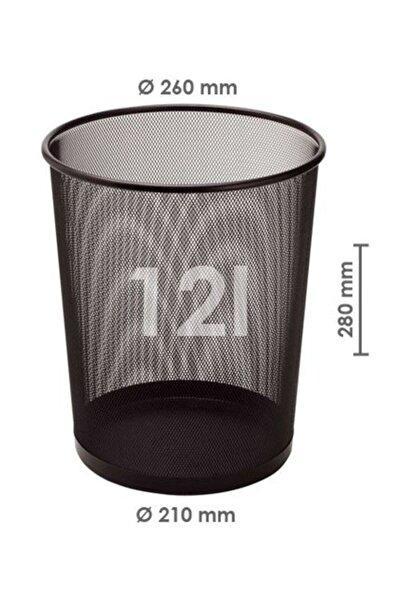 Bigpoint Metal Perfore Çöp Kovası Büyük Siyah