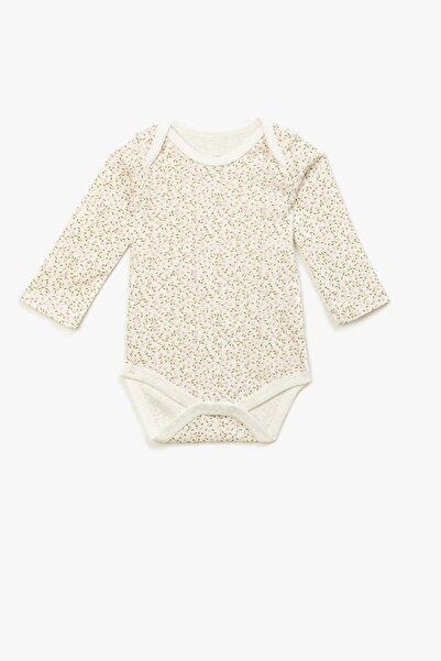 Koton Kız Bebek Pembe Pamuklu Çiçekli Uzun Kollu Çıtçıtlı Zıbın