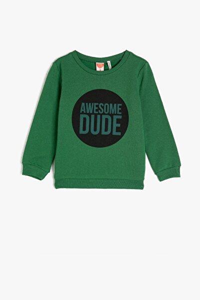 Koton Kids Haki Erkek Bebek Sweatshirt