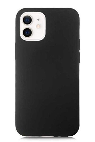 MobilCadde Eiroo Lansman Iphone 12 / Iphone 12 Pro 6.1 Inç Siyah Silikon Kılıf