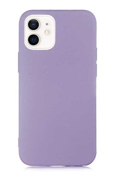 MobilCadde Eiroo Lansman Iphone 12 / Iphone 12 Pro 6.1 Inç Mor Silikon Kılıf