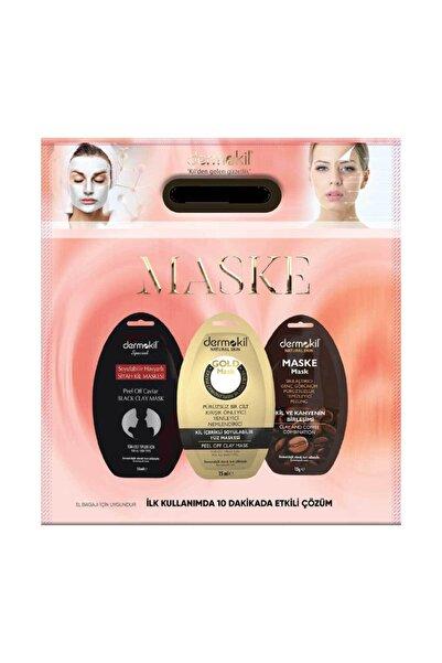 Dermokil 3 Lü Maske Seti-soyulabilir Havyarlı/ Altın / Kil Ve Kahve
