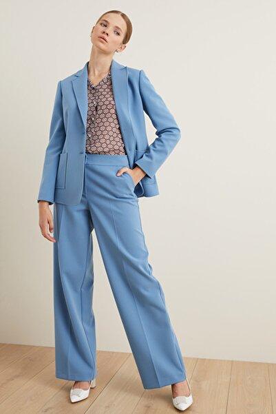 adL Kadın Mavi Bol Pantolon