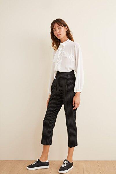 adL Kadın Siyah Çizgili Pantolon