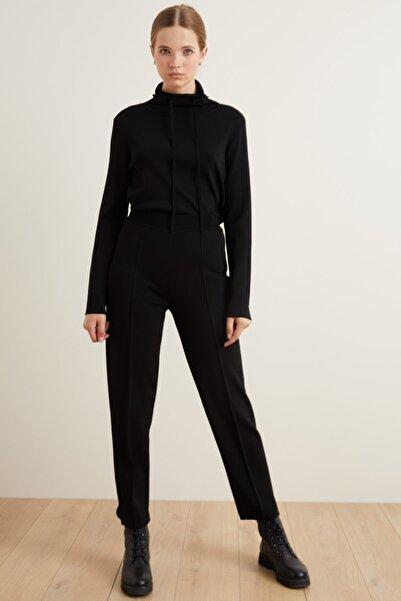 adL Kadın Siyah Triko Pantolon
