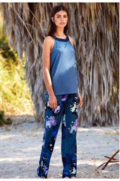Penyemood Kadın Mavi Penye Mood 8344 Pijama Takım
