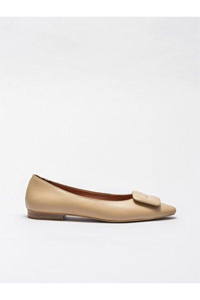 Elle Shoes Naturel Deri Kadın Günlük Ayakkabı
