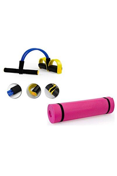 ZEN STYLE Body Trimmer Çift Taraflı Yoga Matı/pilates Minderi Hediyeli Egzersiz Seti