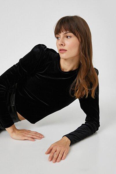 Koton Kadın Siyah T-Shirt 1KAK13440EK