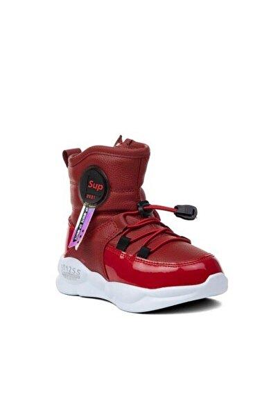 Twingo Kız Çocuk Kışlık Içi Kürklü Kırmızı Bot Ayakkabı