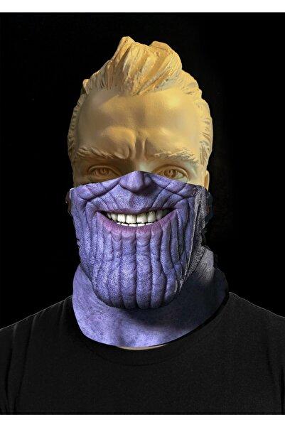 PromoSepeti Thanos Unisex, Çok Amaçlı Maske, Bandana, Kafa Bandı, Yüz Maskesi, Kar Maskesi