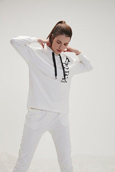 Bad Bear Bad Luck Kadın Sweatshirt - Beyaz