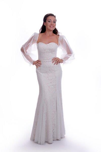 Nikahelbisem Kadın Beyaz Nikah Elbisesi