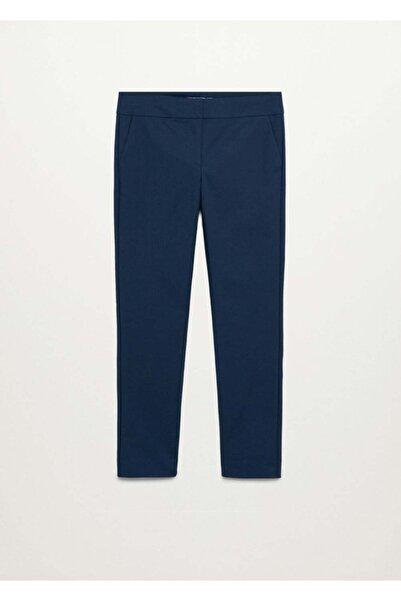 MANGO Woman Kadın Lacivert Pantolon
