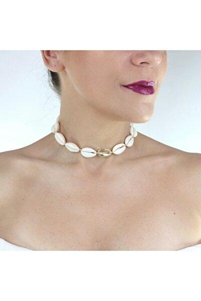 Hane14 Kadın Doğal Deniz Kabuğu Kolye Gold 5983