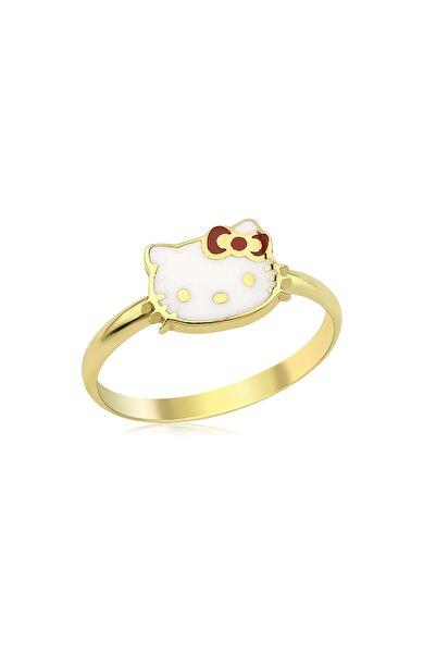 Hello Kitty Lisanslı Kız Çocuk Turkuaz 14 Ayar Altın Yüzük