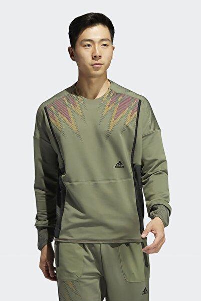 adidas Erkek Yeşil Günlük Prime C.rdy Top Sweatshirt Gı7430