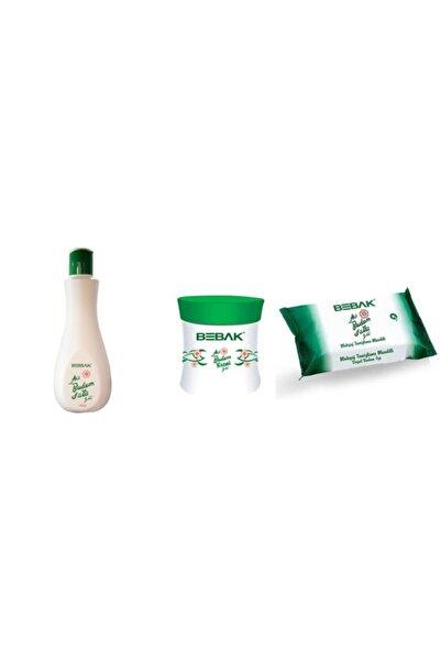 Bebak Acı Badem Sütü 215 Ml  Acıbadem 70 ml Krem 20 Adet Temizleme Mendili