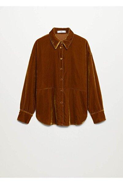 MANGO Woman Kadın Hardal  Bluz Gömlek