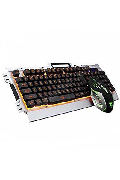 OWWOTECH Işıklı Oyuncu Klavye Mouse Seti Mekanik Hisli Rgb Işık Nefes Modu Pg8016