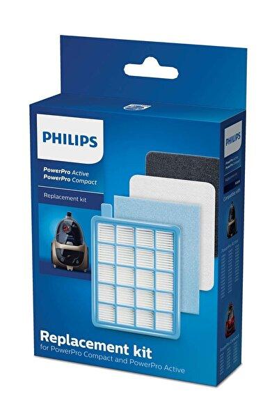BLC Filtre Philips Powerpro Compact Fc9323/07 Uyumlu Hepa Filitre Seti