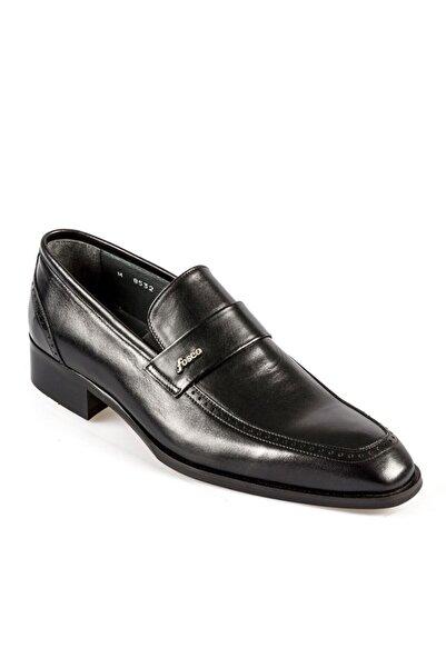 Fosco Erkek Siyah Bağcıksız  Neolit Taban  Klasik Ayakkabı 8532 114
