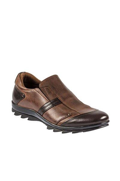 Fosco Erkek Kahverengi Kauçuk Taban  Sıcak Astar Kışlık Ayakkabı