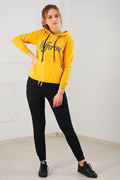 Modaymış Kadın Sarı Eşofman Takımı
