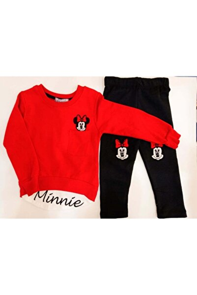 Flower Kız Çocuk Kırmızı Minnie Mouse Takım