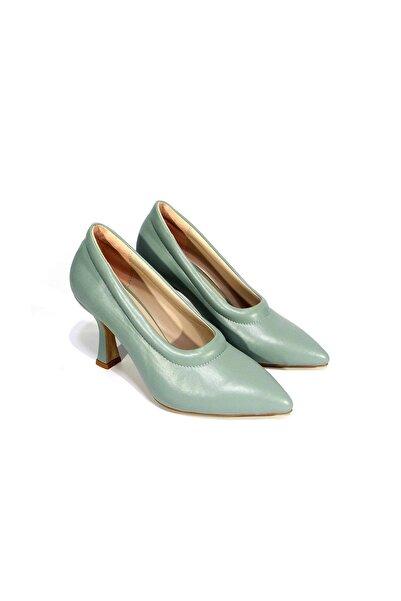 milioon Kadın Açık Yeşil Topuklu Ayakkabı