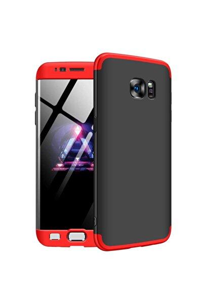 Microsonic Microsonic Galaxy S7 Edge Kılıf Double Dip 360 Protective Siyah Kırmızı