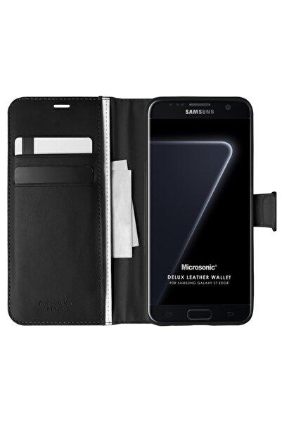 Microsonic Microsonic Galaxy S7 Edge Kılıf Delux Leather Wallet Siyah