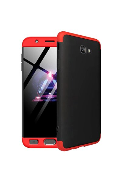 Microsonic Microsonic Galaxy J7 Prime 2 Kılıf Double Dip 360 Protective Siyah Kırmızı