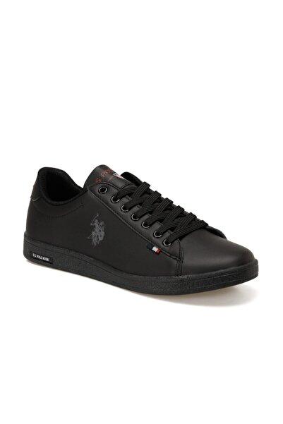 U.S. Polo Assn. Erkek Siyah Franco Büyük Numara Sneakers Ayakkabı 46-47