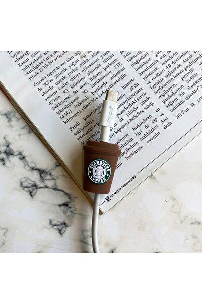 Teknoçeri Starbucks Desenli Şarj Usb Kablo Koruyucu